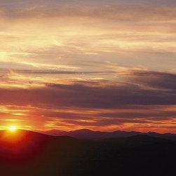Magic Murals - Appalachian Mountains Sunset Wallpaper Wall Mural - Self-Adhesive - Multiple Siz - Appalachian Mountains Sunset Wall Mural