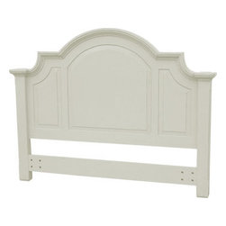 EuroLux Home - New Queen Bed White/Cream Painted Hardwood - Product Details