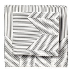 Serena & Lily - Halden Sheet Set - Not your average stripe, Halden's lines have a lovely hand-drawn quality. Like a tailored men's shirt, the chevron print along the top cuff softens the look and adds a nice pop of contrast when folded down - just the kind of design surprise we love.