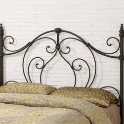 """Coaster - Traditional Queen / Full Size Headboard in Bronze - Featuring hand-rubbed bronze highlights, ornamental elegant looping, and able to fit both full and queen size bed frames, this headboard will make a lasting statement in your home.; Traditional Style; Bronze finish; Some assembly required.; Dimensions: 61.25""""W x 55""""H"""