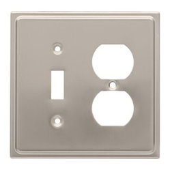 Liberty Hardware - Liberty Hardware 126480 Country Fair WP Collection 4.96 Inch Switch Plate - Sati - A simple change can make a huge impact on the look and feel of any room. Change out your old wall plates and give any room a brand new feel. Experience the look of a quality Liberty Hardware wall plate.. Width - 4.96 Inch,Height - 4.9 Inch,Projection - 0.2 Inch,Finish - Satin Nickel,Weight - 0.28 Lbs