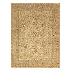 """Pasargad - Pasargad Tabriz Collection Traditional Hand-Knotted Persian Style Area Rug- 4x6 - """"The brand Pasargad is the perfect blend of class and elegance. These rugs bring traditional sophistication to your home. These rugs feature 100% material, hand-knotted into elegant designs, perfect for your elegant decor. The varying pile heights will add a spark of interest to these rugs. Each rug has a dense, soft pile and excellent quality, to ensure that you will enjoy the look and feel of your rug for years to come."""""""