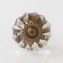 """Anthropologie - Mini Melon Knob - Tighten with careNo additional hardware requiredGlass1"""" diameter1.5"""" projection1.75"""" bolt can be trimmed to sizeImported"""
