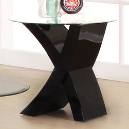 "Acme Furniture - End Table in Black - End Table in Black; Finish: Black; Dimensions: 24""X24""X22""H"