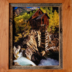 MyBarnwoodFrames - Rustic Frames-5x7 Alder Wood & Barnwood Frame Sagebrush Series - Rustic  Frames-5x7  Alder  Wood  &  Barnwood  Frame  -  Sagebrush  Series          --- Rustic  Frames  handcrafted  from  natural  hardwood  and  accented  with  a  1/2  inch  reclaimed  barnwood  inset.  This  rustic  wood  frame  is  stained  light  walnut  color  and  is  perfect  for  framing  photos  and  art.  Each  5x7  picture  frame  will  accommodate  one  5x7  inch  photo  or  print  and  can  be  hung  horizontally  or  vertically.  The  frame  includes  glass  and  hanging  hardware.  Cleans  with  a  soft  cloth.  Backing  is  included  and  is  secured  with  flexible  push  points  so  inserting  your  own  photos  is  simple.  We  craft  each  of  our  country  frames  to  withstand  generations  of  use.  Corners  are  glued  and  secured  with  a  screw  so  they  won't  separate.  Each  of  these  country  frames  makes  a  great  gift.  A  rustic  frame  perfect  for  multiple  decor  styles                     Product  Specifications:                   Finished  Dimensions:  9x11              Includes  glass  and  hanging  hardware              Can  be  hung  horizontally  or  vertically                               Please  Note:   Your  purchase  includes  a  frame,  glass,  and  hardware  for  hanging.   Photos  are  NOT  included.