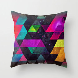 Milky Way Geometry Pillow Cover - The Milky Way lies just beneath a striking geometric plane. Made of 100% polyester poplin, each double-sided pillow cover has been individually cut and sewn by hand. A concealed zipper makes the pillow cover easy to clean.