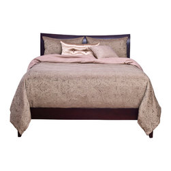 SIS Covers - SIS Covers Chateau Chambord Duvet Set - 6 Piece Queen Duvet S - 5 Piece Twin Duvet S Duvet 67x88, 1 Std Sham 26x20, 1 16x16 dec pillow, 1 26x14 dec pillow. 6 Piece Full Duvet S Duvet 86x88, 2 Std Shams 26x20, 1 16x16 dec pillow, 1 26x14 dec pillow. 6 Piece Queen Duvet S Duvet 94x98, 2 Qn Shams 30x20, 1 16x16 dec pillow, 1 26x14 dec pillow. 6 Piece California King Duvet S Duvet 104x100, 2 Kg Shams 36x20, 1 16x16 dec pillow, 1 26x14 dec pillow6 Piece King Duvet S Duvet 104x98, 2 Kg Shams 36x20, 1 16x16 dec pillow, 1 26x14 dec pillow. Fabric Content 1 Front 62 Rayon 38 Polyester Back 100 Polyeste, Fabric Content 2 100 Polyester. Guarantee Workmanship and materials for the life of the product. SIScovers cannot be responsible for normal fabric wear, sun damage, or damage caused by misuse. Care instructions Machine Wash. Features Reversible Duvet and Shams.