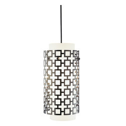 Robert Abbey - Jonathan Adler Parker Pendant - Dangle a few of these pendant lights over your kitchen island and take cooking and entertaining to the next level. The perforated metal outer shade covers white glass.