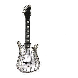 ecWorld - Rock Forever Stratocaster Electric Guitar Hanging Metal Wall Art - Celebrate your love for music with this Electric Guitar Hanging Wall Art.