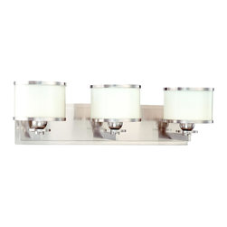 Hudson Valley - 6103-SN Basking Ridge Bath Vanity Light, Satin Nickel - Modern Contempo Bath Vanity Light in Satin Nickel from the Basking Ridge Collection by Hudson Valley.