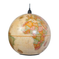 Shiner - Shiner World Globe Light Large, Light Antique - Modern, eco-friendly furnishings made in Marianna, FL. Our goal is to transform tons of landfill-destined materials into killer designs. By building pieces out of disposable elements, we refine the future by upcycling the past.