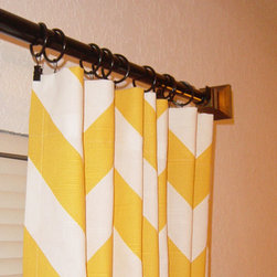 Chevron Curtains, Yellow and White by Sew Panache - These are so fun in yellow.