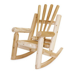 Baseball Rocking Chair, Child - Sure to be your favorite seat outside the stadium, these sturdy rockers are handmade from reclaimed baseball bats and unfinished Canadian white cedar. Handmade in Massachusetts.