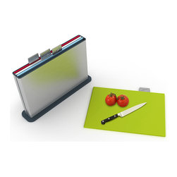 Joseph Joseph - Joseph Joseph Index Steel Chopping Board Set - Joseph Joseph - Index Steel is Joseph Joseph latest version of their multi-award-winning chopping board categorization system, bringing even bigger boards and a new stylish finish to the Index range.