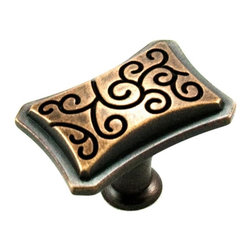 RK International CK 116-BE Cabinet Knob - Palermo Series - Octagon - Brushed Eng - This brushed english finish cabinet knob with octagon design is part of the Palermo Series Cabinet Hardware Collection from RK International and features a perfect blend of craftmanship in traditional and contemporary design to complement any decor.