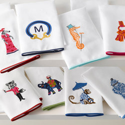 Guest Towels - Who doesn't love everything made by preppy shop Iomoi? I want to own it all, including this set of guest towels. So irreverent and prep-tastic!