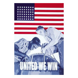 "Buyenlarge.com, Inc. - United We Win - Gallery Wrapped Canvas Art 12"" x 18"" - Another high quality vintage art reproduction by Buyenlarge. One of many rare and wonderful images brought forward in time. I hope they bring you pleasure each and every time you look at them."