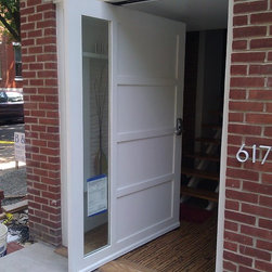 Pivot Door - Custom made off center pivot door. 60 inches wide. Insulated glass.