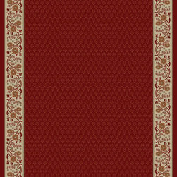"""Concord Global - Concord Global Jewel Harmony Red 6'7"""" x 9'6"""" Rug (4020) - Jewel collection is machine-made in Turkey using 100% heat-set polypropelene. These traditional to contemporary rugs will make a colorful addition to any area."""
