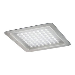 """Nimbus - Nimbus Modul Q 64 IN LED recessed light - The Q64 In recessed light by Nimbus is a unique fixture. This luminaire is perfect for a flush ceiling mounting. 100% downlighting, wide beam. The frame is available in 3 variations: brushed stainless steel, anodised silver or brilliant white. For assembly in suspended ceiling or concrete mounting box. External Nimbus converter required. The converter can be integrated in a suspended ceiling/concrete box.   Product Details:    The Modul Q 64 In recessed light by Nimbus is a unique fixture. This luminaire is perfect for a flush ceiling mounting. 100% downlighting, wide beam. The frame is available in 3 variations: brushed stainless steel, anodised silver or brilliant white. For assembly in suspended ceiling or concrete mounting box. External Nimbus converter required. The converter can be integrated in a suspended ceiling/concrete box. Details:                          Manufacturer:                        Nimbus                                                 Designer:                        Nimbus                                         Made in:                        Germany                                         Dimensions:                        H: .8"""" (2 cm) X W: 9.4"""" (24 cm) X L: 9.4"""" (24 cm)                                                     Light bulb:                                     1 X 16W LED 3000K Warm Light                                         Material:                        Polyethylene"""