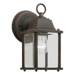 Forte Lighting - Forte Lighting 1705-01 Craftsman / Mission Outdoor Wall Sconce from the Exterior - *Die Cast Aluminum Exterior Wall Sconce