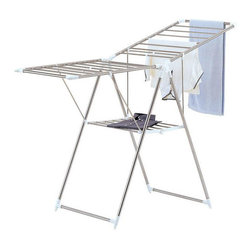 Organize It All - Large Collapsible Chrome Finish Drying Rack - This drying rack is excellent for drying your clothesMade out of strong,sturdy metal with a brilliant chrome finishHas a collapsible design that allows for easy storage