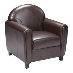 Flash Furniture - Flash Furniture Accent Chair X-GG-NB-1-828-TB - Make an impression with your clients and customers with this attractive leather reception chair. Reception chairs are perfect for the office and waiting room seating. Not only will this chair fit in a professional environment, but will add a chic look to your living room space. The contemporary design of this chair will fit in a multitude of environments with its comfortable cushions, elegant rounded arms and black wood feet. [BT-828-1-BN-GG]