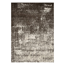 """Loloi Rugs - Viera Contemporary Rug VIERVR-02IVBR - 5'-3"""" X 7'-7"""" - Classically expressed design elements enjoy a graphic, modern twist in the Viera Collection. Power-loomed of 100-percent polypropylene, these tasteful contemporary and refined transitional designs reverberate with style. A deliberate high-low pile adds to the worn, vintage look and finish of each rug. Ultra sophisticated black/ivory and mocha/ivory color options add broad appeal to this timely yet timeless collection."""