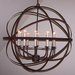 Solaria LeMonde 10 Candle Chandelier - One of my favorite chandeliers - comes in a few different sizes and finish options. Makes a statement in a dining room or kitchen for that matter!