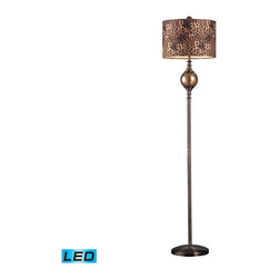 Dimond Lighting - Dimond Lighting Alliance Table Lamp in Coffee Plating & Smoked Glass - LED Offer - Table Lamp in Coffee Plating & Smoked Glass - LED Offering Up To 800 Lumens belongs to Alliance Collection by Dimond Lighting Table Lamp (1)