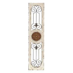 Benzara - Wood Metal Wall Panel 58in.H, 12in.W Wall Decor - Size: 12 Wide x 1 Depth x 58 High (Inches)
