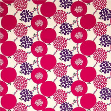 fabric echino canvas fabric pink berries birds from Japan