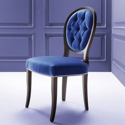 Costantini Tulip Chair - CostantiniTulip Transitional Eclectic Designer Blue Chair Handmade in Beech Wood