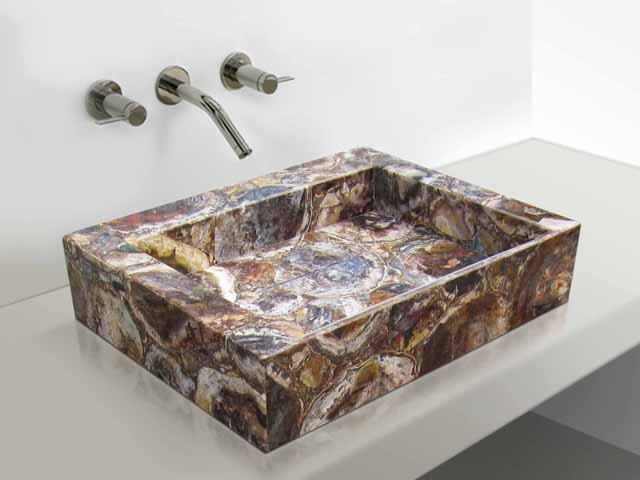 bathroom sinks by Madagascar Minerals