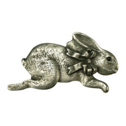 Anne at Home Hardware - Bunny with Bow, Right Knob, Bronze - A little gray hare simply adds a bit of polish and sophistication to your look. In fact, you�۪ll find that this incredibly cute pewter bunny knob is very top drawer.