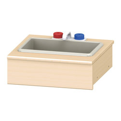 Jonti-Craft - Play Kit Sink Shelf Kit Single Pod Width - Includes play faucet with knobs and red plastic sink. Spans one Pod width.