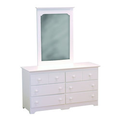 Atlantic Furniture - Atlantic Furniture Windsor Dresser and Mirror Set in White - Atlantic Furniture - Dressers - 6965269002PKG
