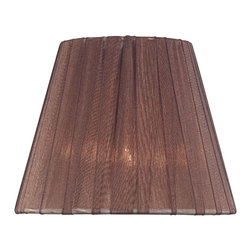 Lite Source - Pleated Chandelier Shade in Burgundy (6 in. Dia.) - Size: 6 in. Dia.. 5 in. Shade:. Top: 3 in. Dia.. Bottom: 5 in. Dia.. Height: 4 in.. 6 in. Shade:. Top: 3 in. Dia.. Bottom: 6 in. Dia.. Height: 5 in.