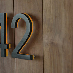 Illuminated Bronze House Numbers 8 Quot Outdoor Backlit
