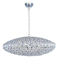 ET2 Lighting - ET2 Lighting E24013-20PC Crystal Pendant Light in Polished Chrome - ET2 Lighting E24013-20PC Crystal Pendant Light In Polished Chrome