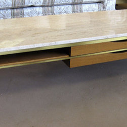 Featured finds at Home Consignments - Paul McCobb travertine coffee table, Calvin Irwin collection