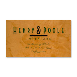 Classy Rustic Interior Designer Business Cards Business Branding - Corbin Henry