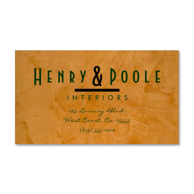 Classy Rustic Interior Designer Business Cards Business Branding - Corbin Henry