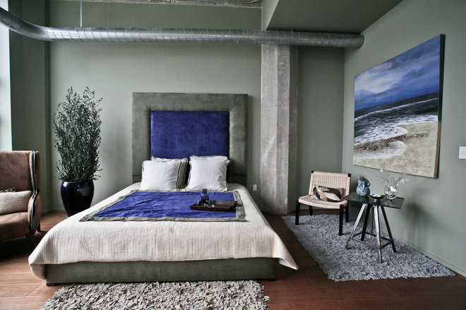 Contemporary Bedroom by Jeanine Turner