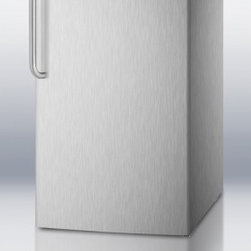 """Summit - FF521BLCSS 20"""" 4.1 cu.ft. Built-in Capable Compact Refrigerator with Curved Towe - SUMMIT brings quality cooling to 20 spaces with FF521BLBI Series of built-in undercounter all-refrigerators with full auto defrost The FF521BLCSS features a full 41 cuft capacity The unit is wrapped in 304 grade stainless steel with a curved towel ba..."""