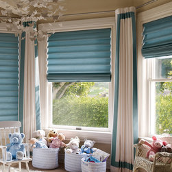 Child Friendly Roman Shades: Cordless with LiteRise - Roman Shades with LiteRise Cordless lift are the perfect window covering for any Children's room. Remain worry free because there are not long cords lying around that can be dangerous for small children.