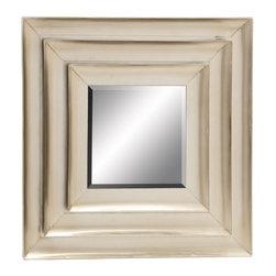 Distinctive and Captivating Metal Wall Mirror - Description:
