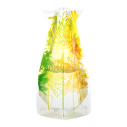 Modgy - Myvaz Expandable Flower Vase Boom Bloom Yellow - Myvaz expandable flower vases do everything a glass vase does except collect dust, chip or break. Available in a variety of designs, myvaz expandable vases are durable and stable enough to hold a flower bouquet. These decorative vases expand with water and are ideal for events, weddings, and any table top. myvaz plastic vases are collapsible and economical, making it easy to keep a variety of colors and patterns tucked away for any occasion.