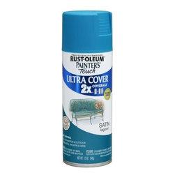RUSTOLEUM BRANDS - 257461 Spray Satin Lagoon 2x Paint - Painter's Touch (R) 2x Ultra Spray Paints