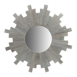 Grandiflora Home + Decor - Imogene Sunray Mirror - White-washed and ready to shine, or Imogene Sunray Mirror is a great hit of style with a neutral presence.